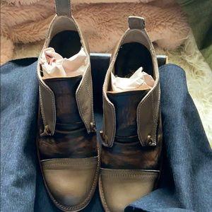 Freebird Mabel Grey Multi Leather Oxfords